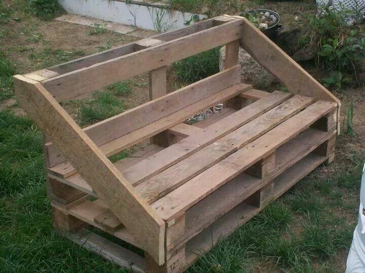 Banc en palette Bench chair table from wood Pinterest - jardines con bancas