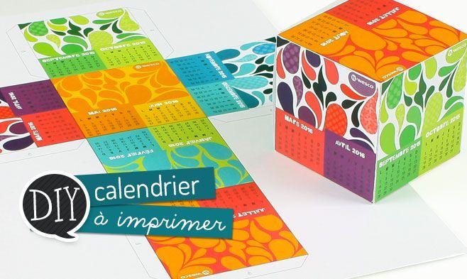 Calendrier cube 2015 2016 imprimer et poser sur le bureau wesco rentr e des id es diy - Calendrier sur le bureau ...