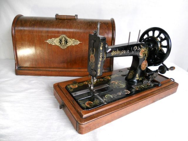RARE Old Antique SINGER 40K Peacock Decals Hand Crank Sewing Cool Singer Hand Crank Sewing Machine