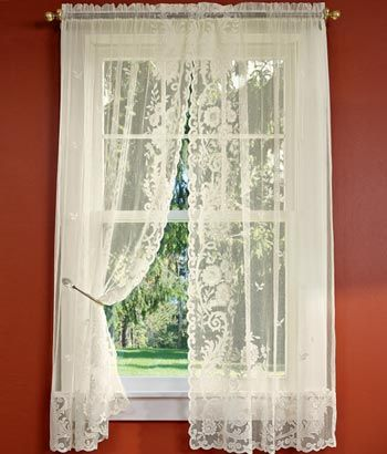 lace curtains for altar? http://www.countrycurtains.com/product ...