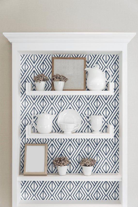 Removable Wallpaper Self Adhesive Wallpaper Geometric