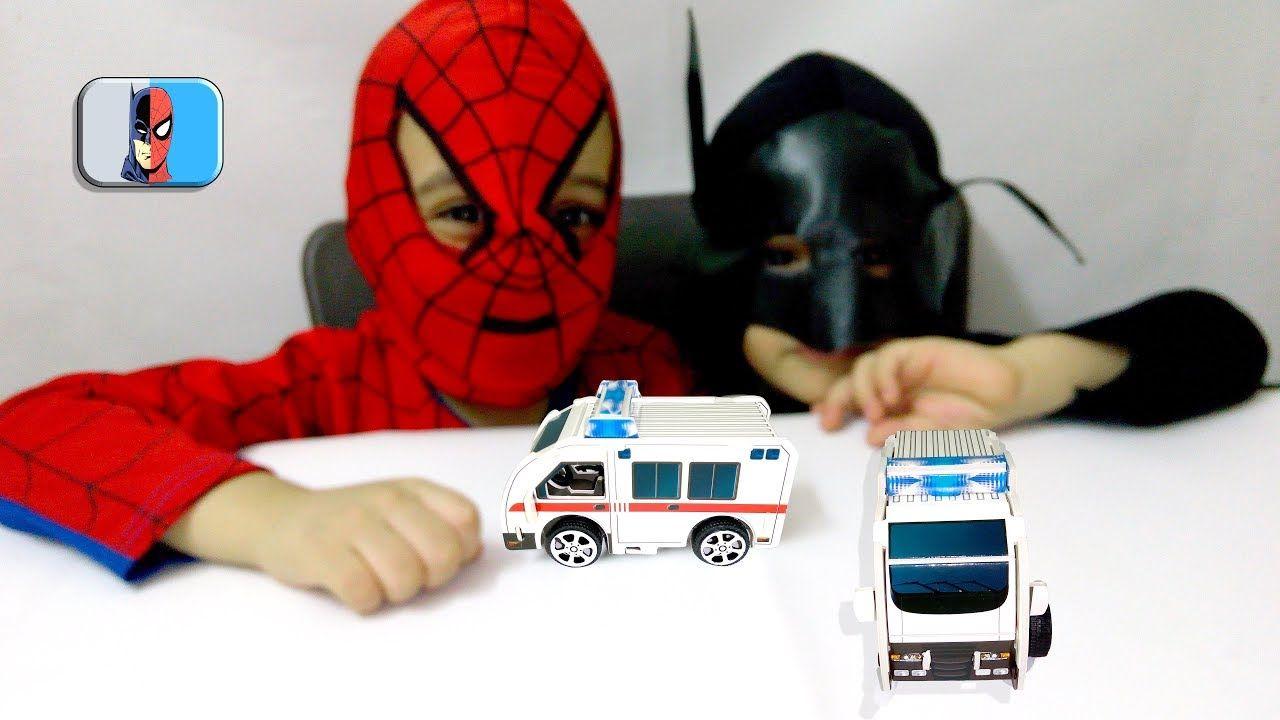 العاب البازل لعبة بازل عربة الاسعاف للاطفال Ambulance Puzzle Spider Spiderman Batman Man
