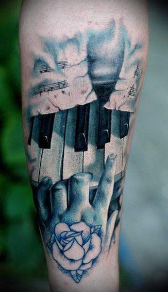 74eae7c727ad9 Piano Key Music Tattoo Designs | Tats | Music tattoos, Music tattoo ...