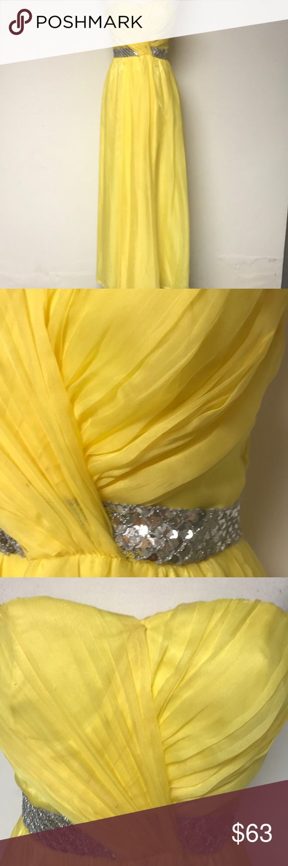Yellow formal dress be the ucbelleud of the ball in this classic