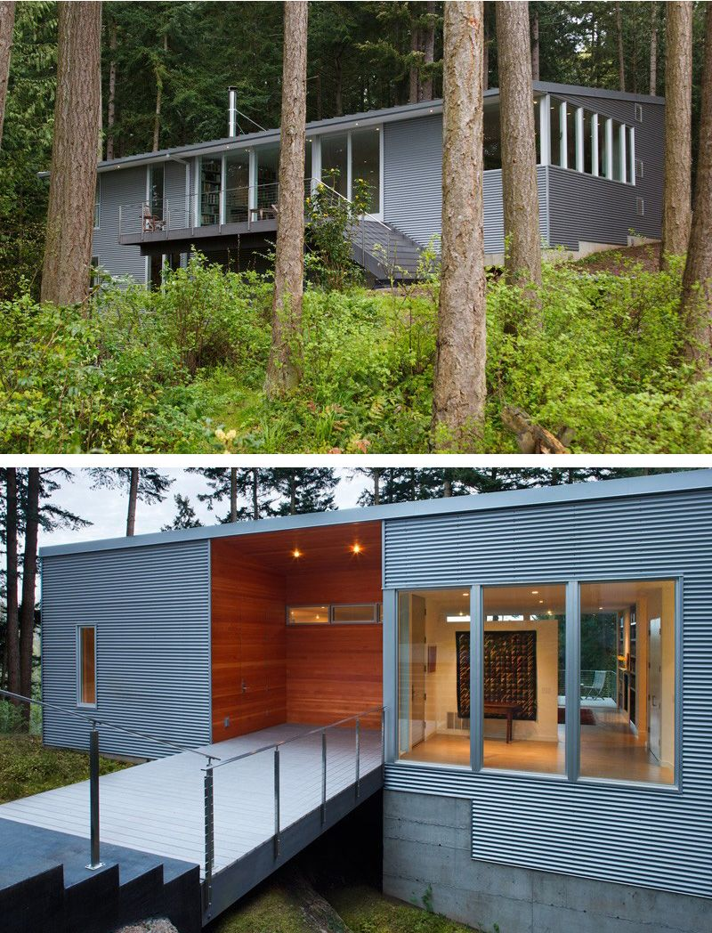 Studio sarah willmer architecture have sent us photos of a home they have designed that overlooks the skagit river in washington state