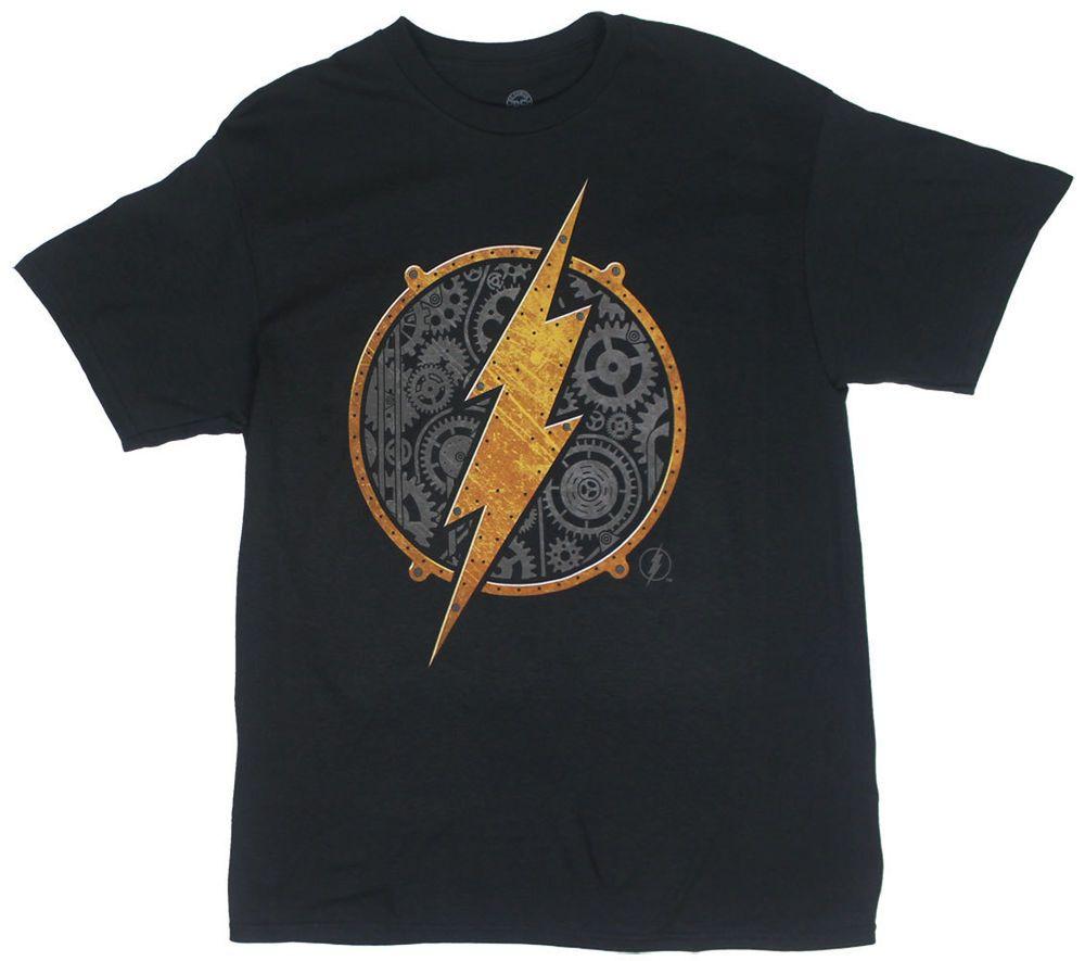 dd9b8daf821c6 DC Flash Steampunk Symbol Adult Licensed T-Shirt - S-XXL  Flash  GraphicTee