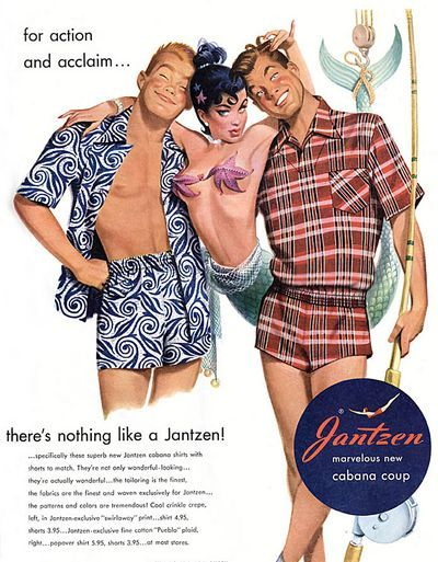 That guy in the plaid would be lucky to even get a fish to look at him in those trunks.  Simply embarrassing
