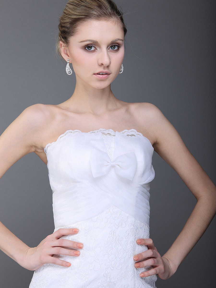 $479 Romantic Wrapped Bust Mermaid Wedding Dress