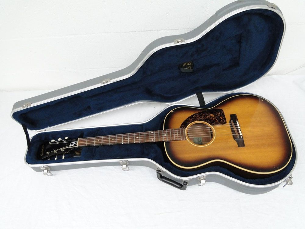 Vintage 1965 Usa Epiphone Cortez Ft 45 Acoustic Guitar Small Body Dreadnought Epiphone Vintage Guitar Epiphone Guitar Acoustic Guitar