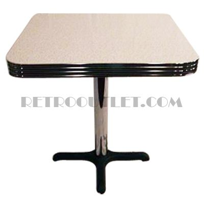 24x24 Square Table Top And Base. Available On Www.retrooutlet.com For Only