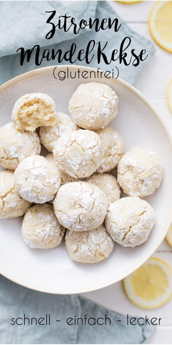 Einfaches Zitronen-Mandel-Kekse Rezept | glutenfrei | Elle Republic