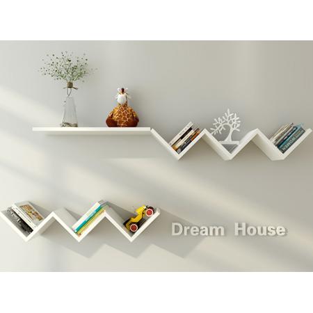 Wall Book Shelf Fashionable Creative Floating Wall Shelf Rack