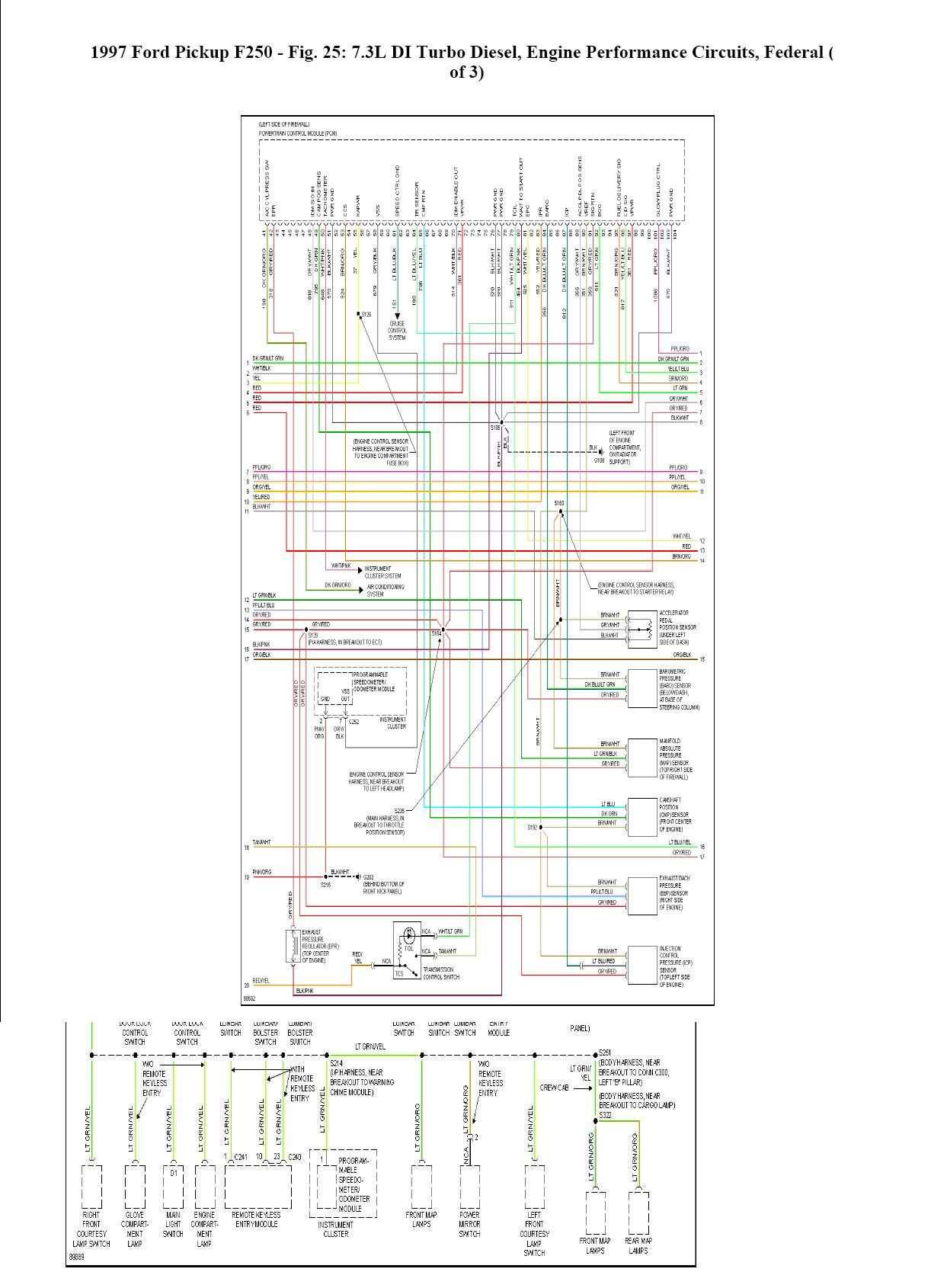 complete wiring schematic powerstroke 1997 ford f350 ford 1997 ford f150 wiring diagram for radio 1997 ford wiring diagram [ 1243 x 1690 Pixel ]