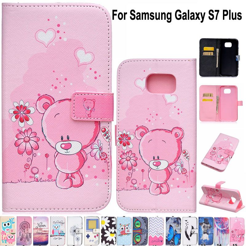 S7 Edge Full Protective Covers Luxury PU Leather Phone Case Flip Cover For Samsung Galaxy S7 edge G9350 With Card Slots