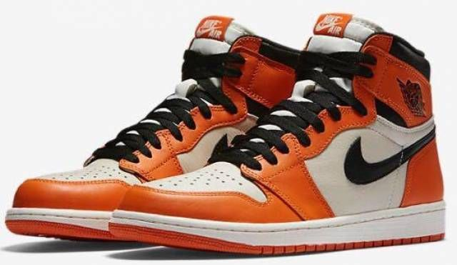 Nike Air Jordan 1 Retro High OG Orange Reverse Shattered Backboard DS  Authentic  Nike  BasketballShoes 345e0ea56