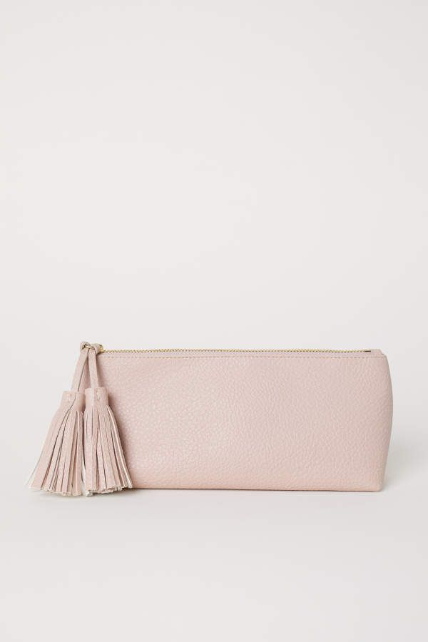 H M Makeup Bag Light Beige