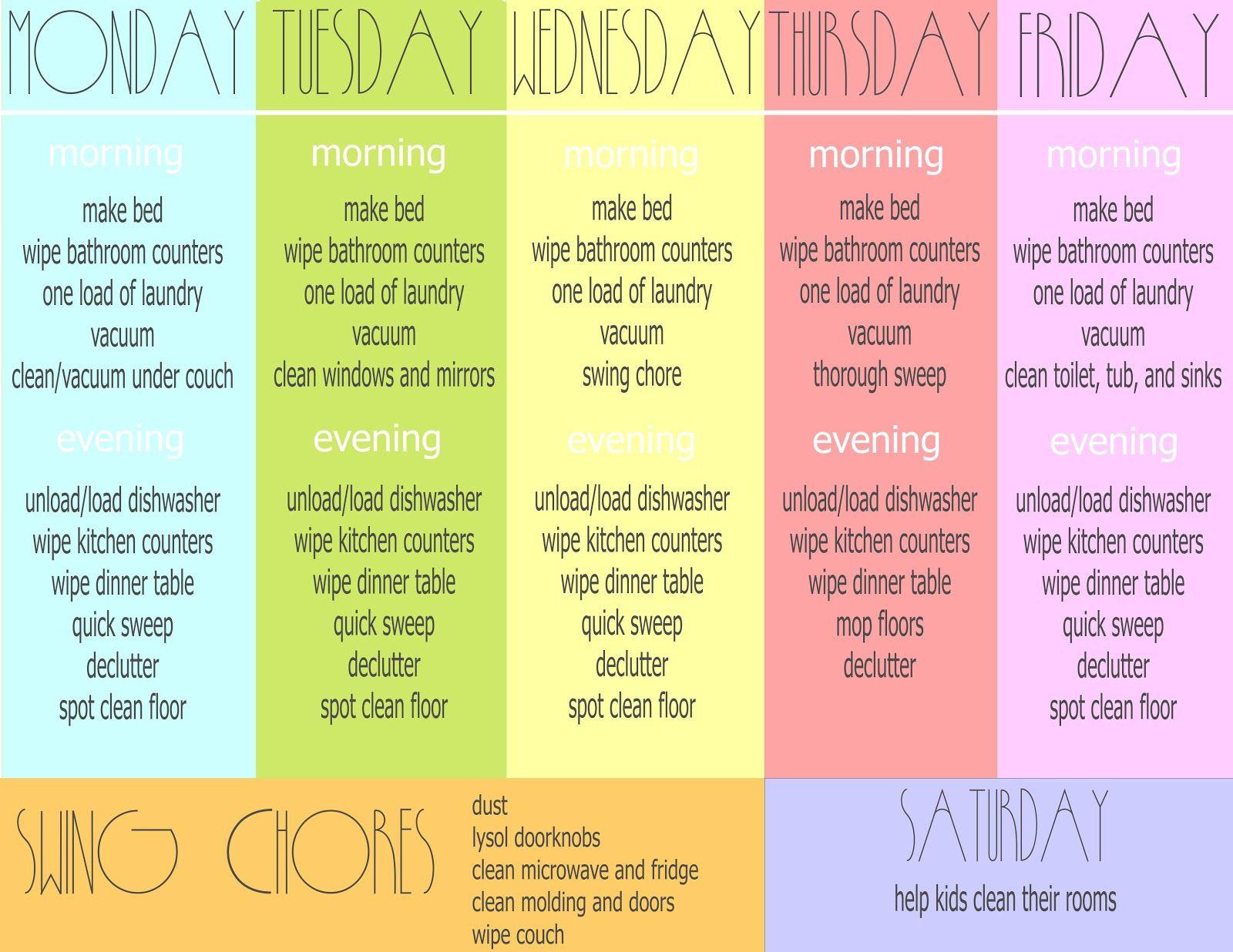 Chores Sheet