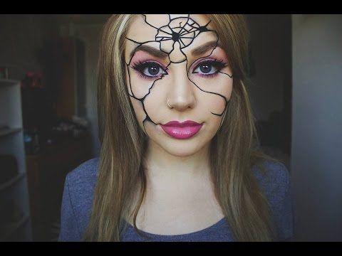 Easy Cracked Broken Doll Makeup Tutorial Halloween Doll Makeup