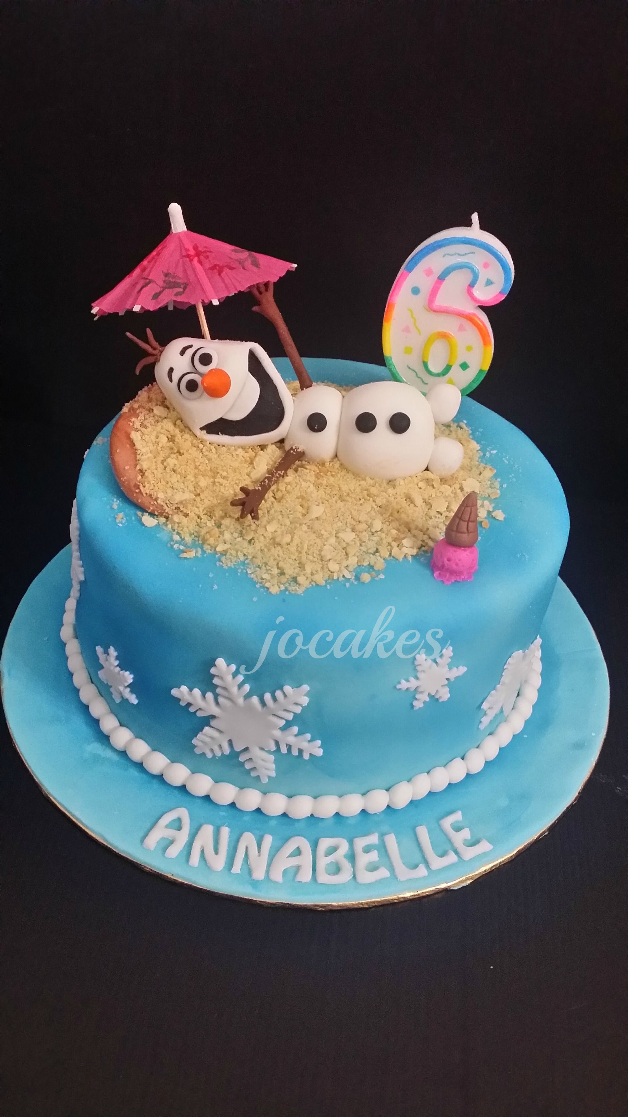 Disney Theme Frozen Olaf And Elmo Cake For Sibling Brayden