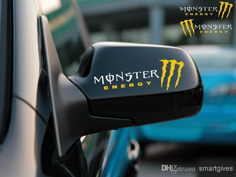 Cool Monster Car Letter Stickers For Guys Car Wall Stickers