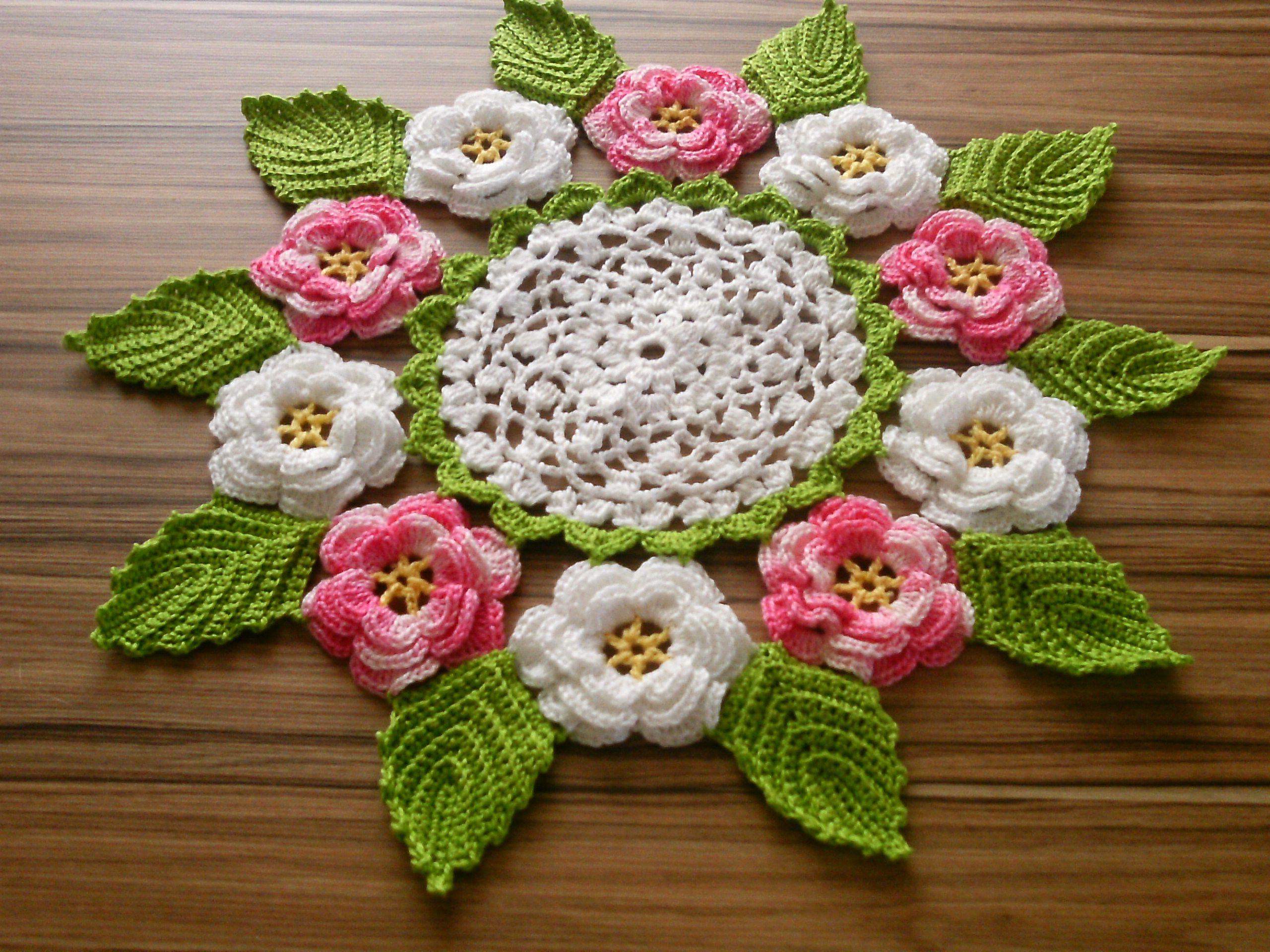 Centro de mesa - Centro de mesa a crochet ovalado ...