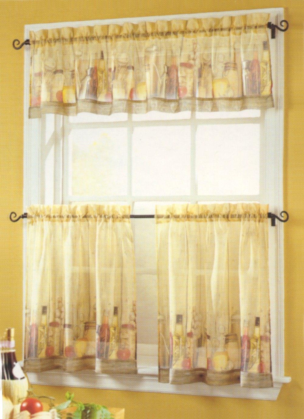 Curtain Bath Outlet Tuscany Sheer Tier Curtain Kitchen