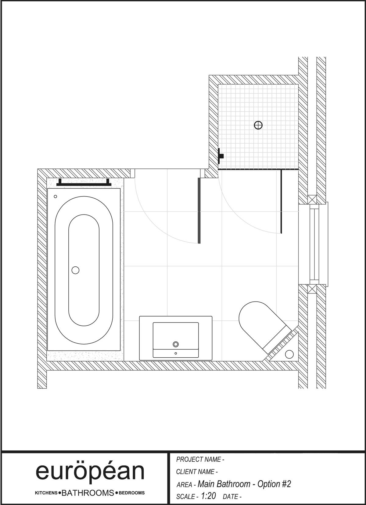 L Shaped Small Bathroom Layout