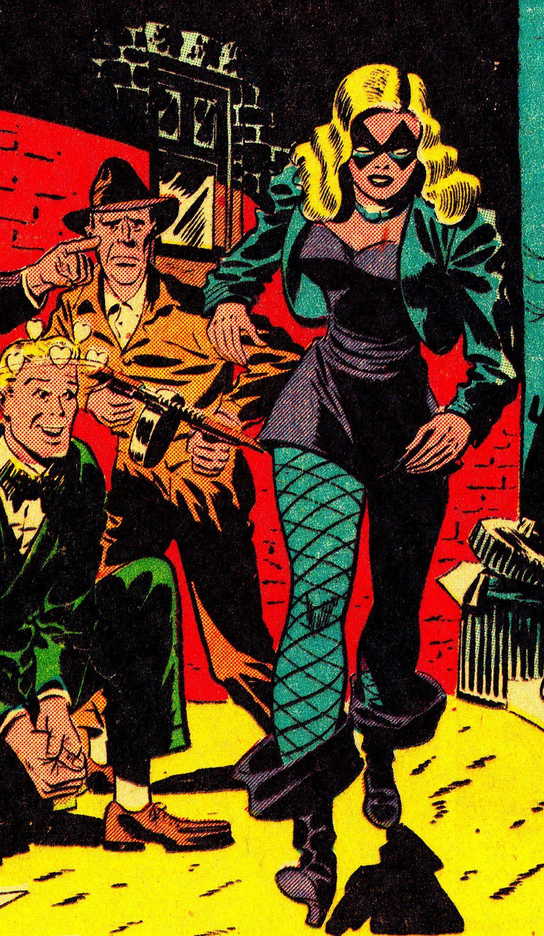 B L A C K C A N A R Y Flash Comics #86 (Aug. 1947) Art by Carmine Infantino (pencils) & Joe Giella (inks)