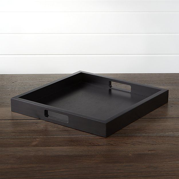 Zuma Square Black Serving Tray Black Serving Trays Tray Wooden Serving Trays