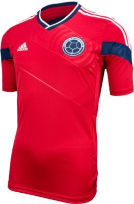 adidas Colombia Away Jersey 2014 - Red with White..Available at SoccerPro  now. 2ece54468