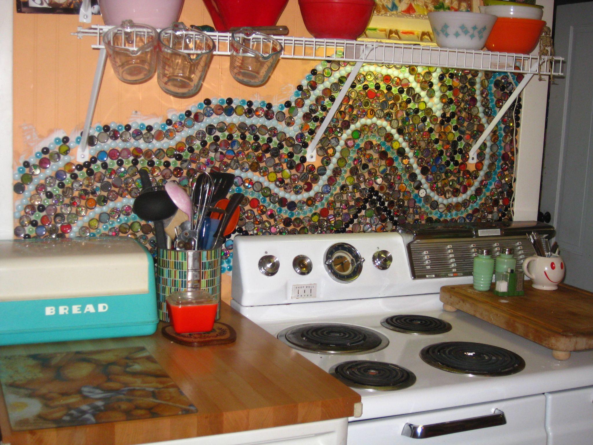 - Bottle Cap Mosaic Backsplash (With Images) Diy Backsplash