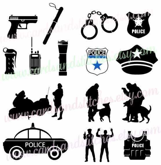 Police Svg Police Car Svg Police Clipart Digital Cutting