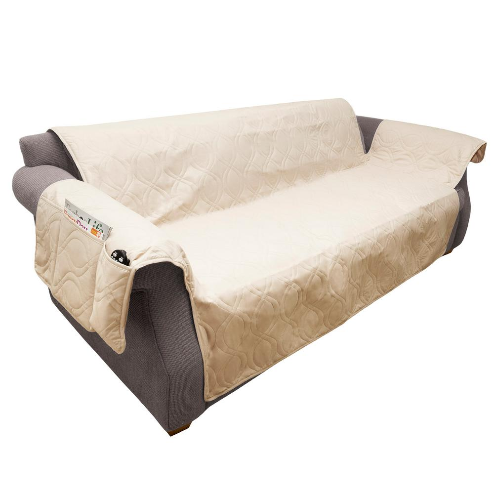 Petmaker Non Slip Tan Waterproof Sofa Slipcover Slipcovers