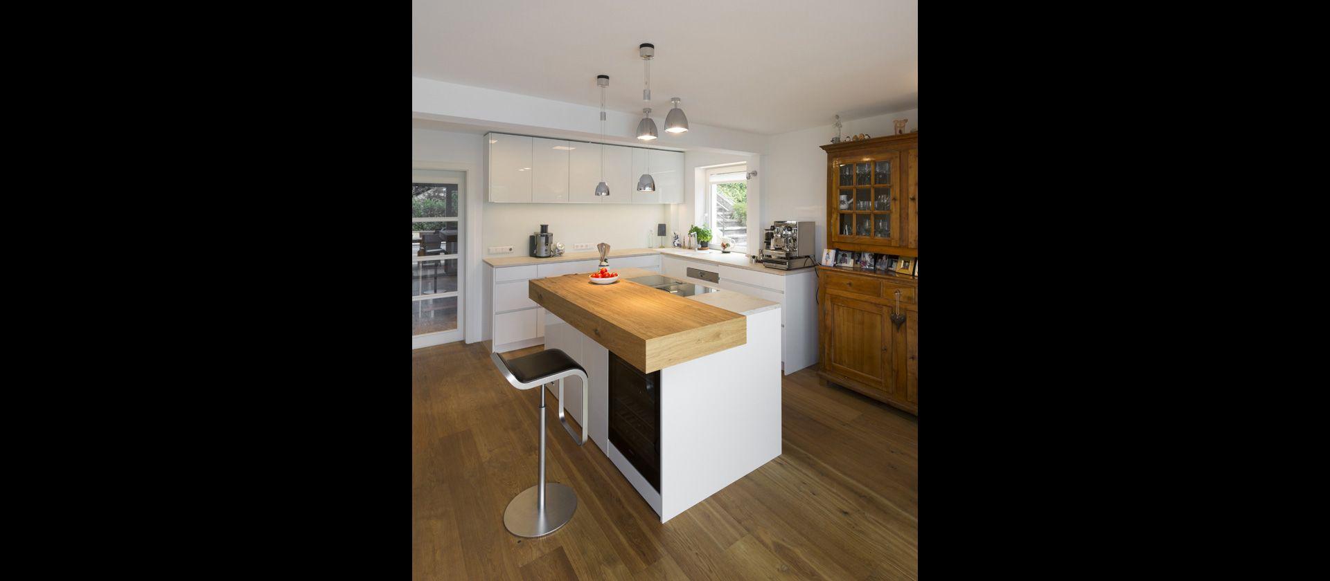 mtb k che mit freiem block bora professional abluft im bodenkanal verlegt kitchens kitchen