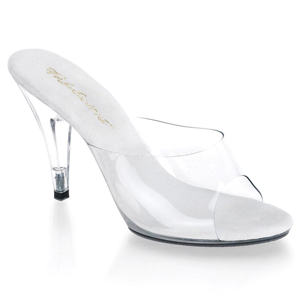 "FABULICIOUS Caress-401 Series 4/"" Heel Party Prom Bridal Slide Sandal"