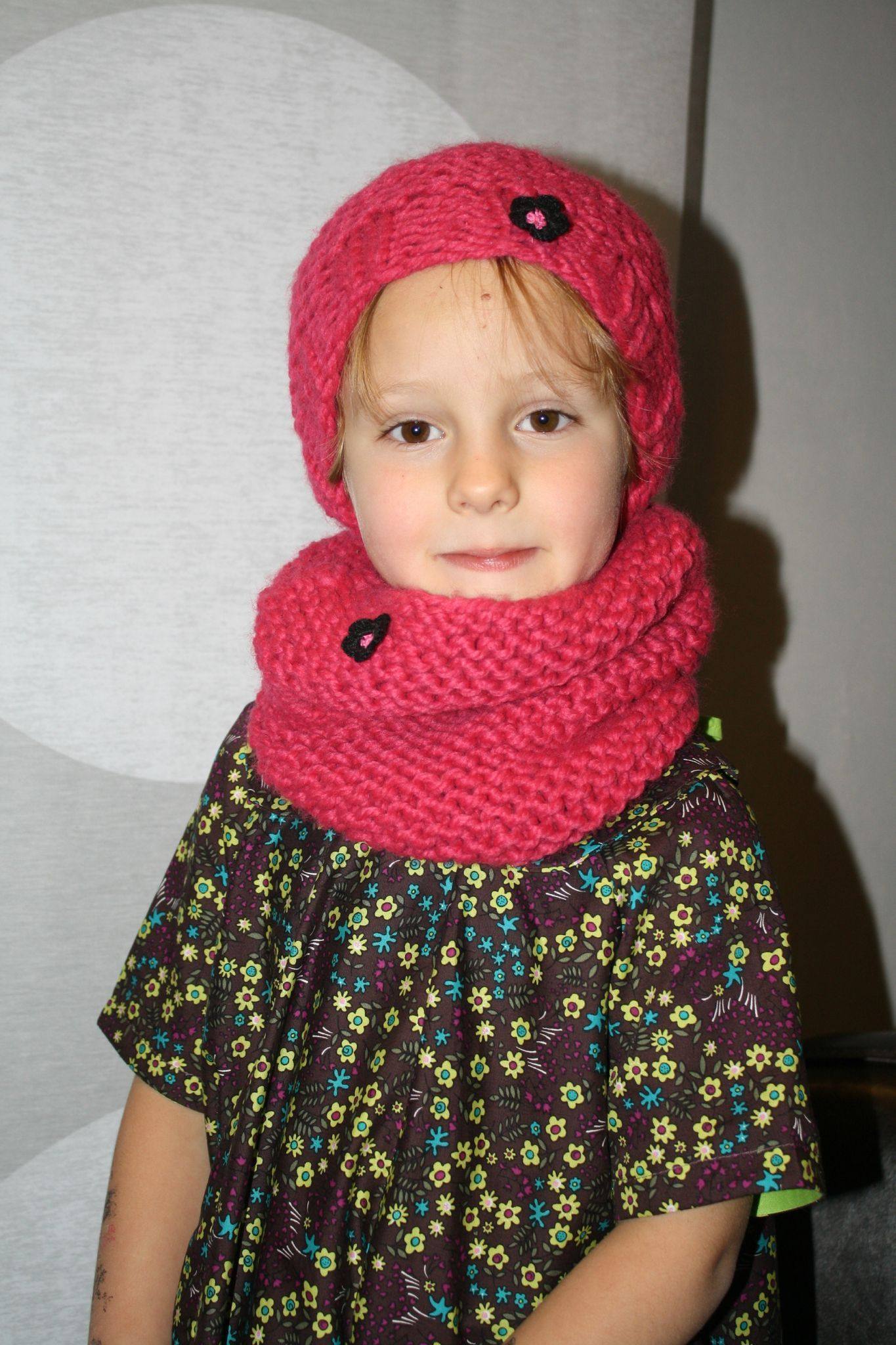 tricoter un snood bebe