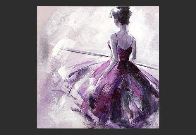Dipinto a mano Ballerina di schiena   Art e\' vita   Pinterest ...