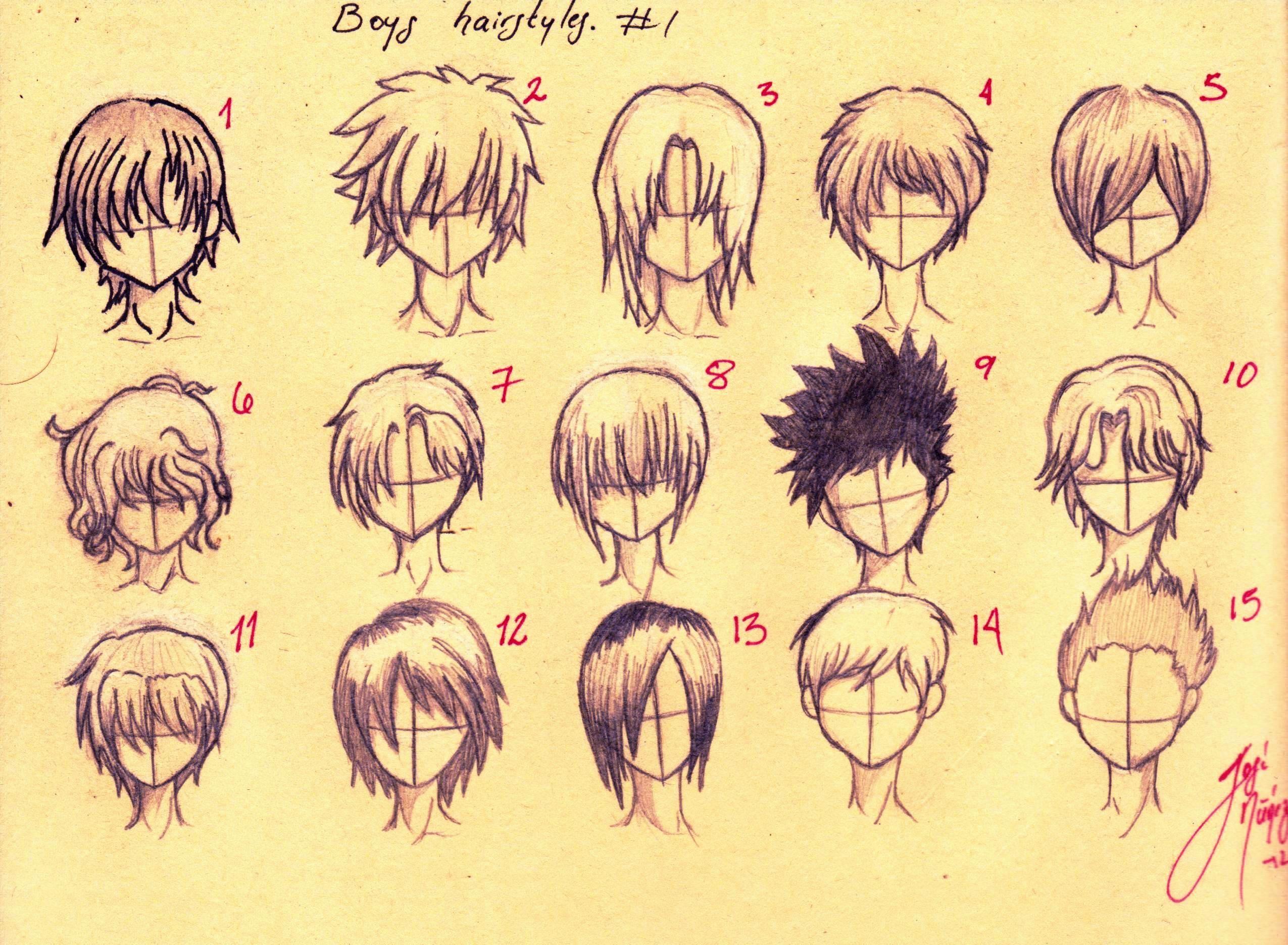 Anime Hairstyles For Boys Tutorial By Josen16 On Deviantart