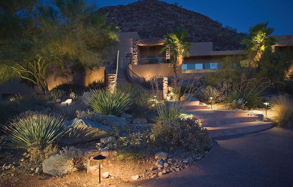 Kichler 16 2700k led dome path in textured architectural bronze accent lightingoutdoor lightingkichler landscape