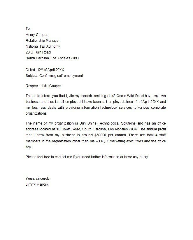 Proof Of Employment Letter   Letter From Company To Immigration