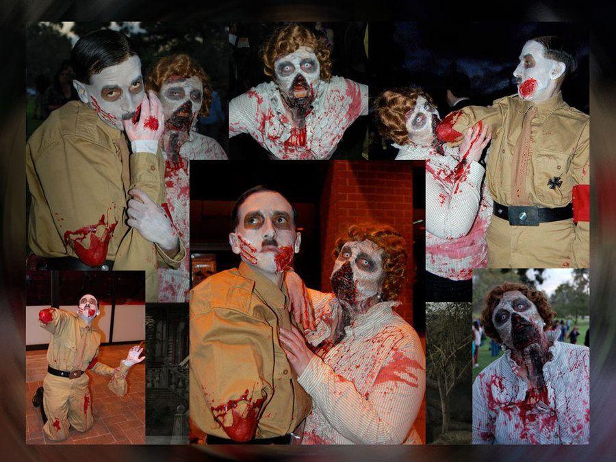 Zombie Adolf and Eva by gurihere on DeviantArt