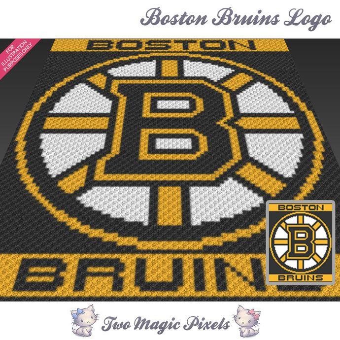 Boston Bruins Logo Crochet Graph C2c Mini C2c Sc Hdc Dc Tss