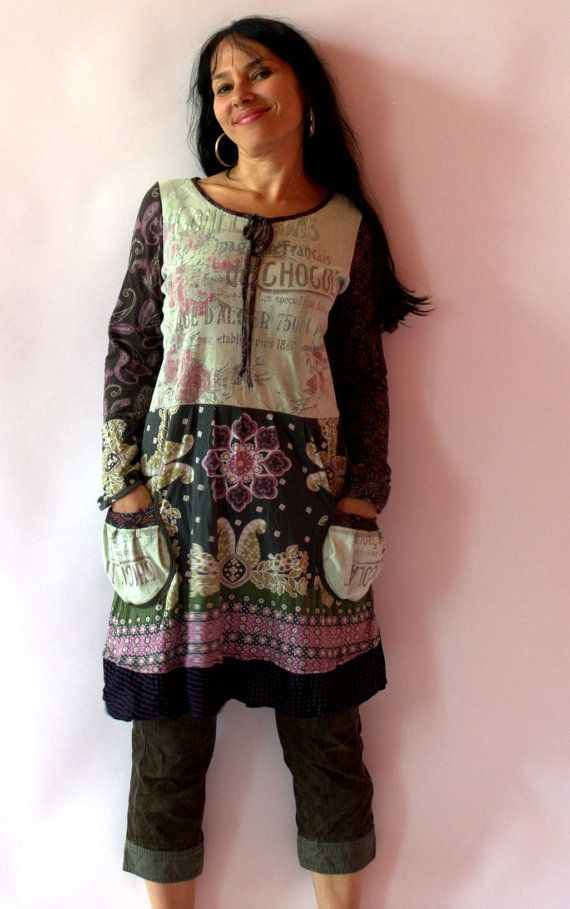 #Farbberatung #Stilberatung #Farbenreich mit www.farben-reich.com Fantasy romanic remade dress tunic by jamfashion on Etsy, $76.00
