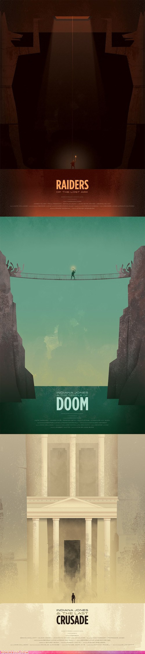 Creative Indiana Jones Trilogy Poster Art
