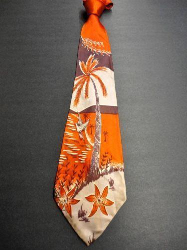 Vintage Men's 1940s Swing Tie
