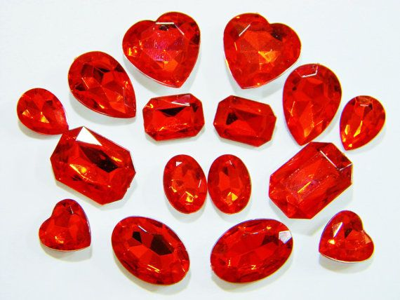 Hey, I found this really awesome Etsy listing at https://www.etsy.com/listing/250273203/red-3d-acrylic-gems-16-pieces-mixed