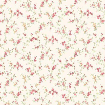 Papier Peint Miniature Shabby Chic Floral Rouge Caramel Cosy Cosy M0761:  Amazon.fr: