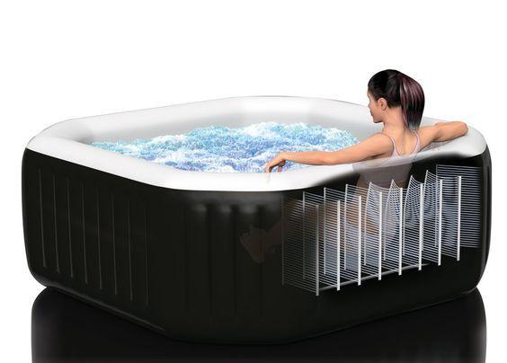 Pure SPA Octagon Jet + Bubble Aufblasbarer Whirlpool Intex 120 #SPA #Pools # Whirlpool