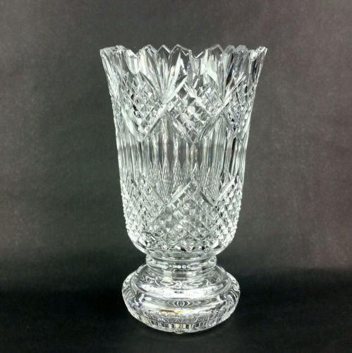 Waterford Crystal Glass Jim O Leary Vase Limited Edition Waterford Crystal Crystal Glassware Crystals
