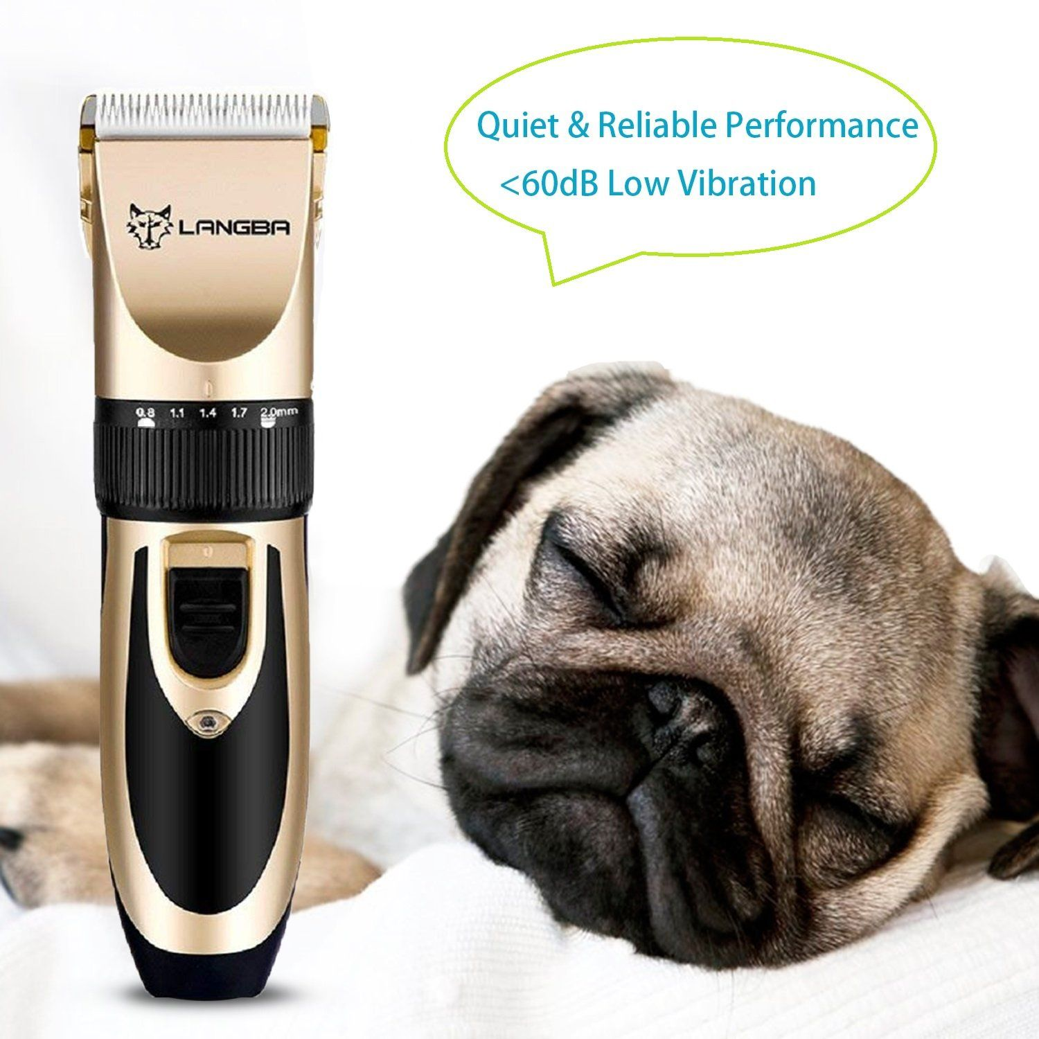 Showlovein Pet Grooming Clipper Kits Low Noise Rechargeable